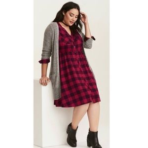 Torrid | Buffalo Plaid Dress | 1X
